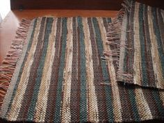 Handwoven rag rug named (Chocolate Forest)-111j