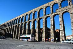 Acueducto se Segovia, España.