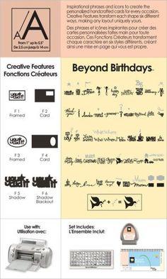 Cricut Cartridge Beyond Birthdays