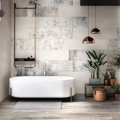 We can't stop staring at this gorgeous white bath space….  Image Source: archiproducts
