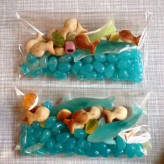 Under the Sea party favors. Can use for Octonauts birthday party Little Mermaid Birthday, Little Mermaid Parties, The Little Mermaid Story, Mermaid Theme Birthday, 3rd Birthday Parties, Birthday Fun, Birthday Ideas, Moana Birthday Party Ideas, Moana Party Bags