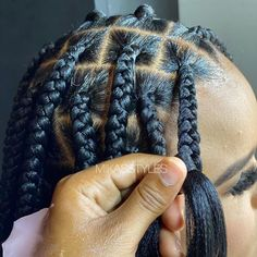 Braided Hairstyles For Black Women Cornrows, Box Braids Hairstyles For Black Women, Braids Hairstyles Pictures, Braids For Black Hair, Weave Hairstyles, Pretty Hairstyles, Black Hairstyle, Dreadlock Hairstyles, Natural Hair Styles
