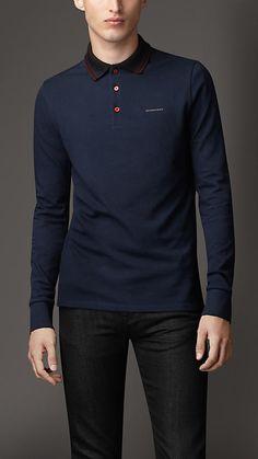 Burberry London Long Sleeve Polo Shirt