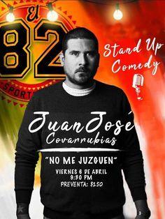 Tijuana Stand Up Comedy Presenta: Show de Stand Up Comedy con Juan José Covarrubias Viernes 06 Abril   9:30 PM   Sports Bar El 82   Aprovecha la preventa: $150 pesos. Boletos en Sports Bar El 82 y Ezquina Caffe