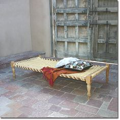 Woven Rope Bed - All Furniture & Lighting - Outdoor Appropriate - Pfeifer Finds @ Pfeifer Studio- Detail