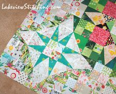 Yesterday I sewed the last long seam to finish the pieced centre of my version of Bonnie Hunter's 2016 mystery quilt, En Provence (now avail...