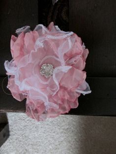 151 best fabric flowers images on pinterest bridal bouquets items similar to flowers fabric 10 pcs fancy pink and white fabric flowers fabric flower pink wedding flowers white fabric flowers on etsy mightylinksfo