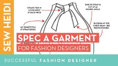 A fashion design tech pack is the blueprint to get your garment made. In this tutorial, we'll go through how to spec your garment using the must have industr. Career In Fashion Designing, Fashion Design Jobs, Fashion Jobs, Fashion Flats, Fashion Designers, Tech Pack, How To Gain Confidence, Book Show, Fashion Sewing
