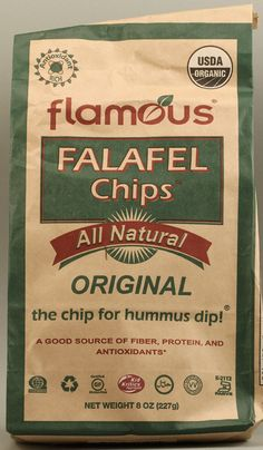 Flamous Organic Falafel Chips Gluten Free With 4grams of Fiber in approximately 11 chips! What a great high fiber crunchy flavorful snack. YUM!
