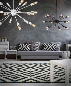 Azzardo Lampa wisząca Orbit 40446-18BK :Sklep internetowy Elektromag Lighting #modern #lighting #lamp #design #black #white