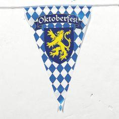200 ft. OKTOBERFEST OCTOBERFEST FLAGS BANNER PENNANTS GERMAN BEER FESTIVAL PARTY