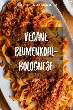 Sugar & Jagdwurst Simple Bolognese made from cauliflower . - Sugar & Jagdwurst Simple Bolognese made from cauliflower breakfast - Crock Pot Recipes, Easy Casserole Recipes, Easy Pasta Recipes, Easy Appetizer Recipes, Vegetarian Recipes Easy, Easy Chicken Recipes, Meat Recipes, Dinner Recipes, Vegetable Recipes