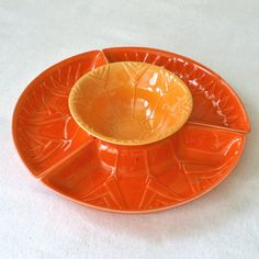 Vintage California Pottery Orange by RattyAndCatty on Etsy