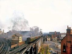 Loco no 35030 crossing Weekday Cross junction, Nottingham, (LCGB Railtour) 3 September 1966.