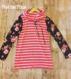 Y'all!!! I can't even. This lightweight floral hoodie is the perfect transition to spring. It's cuffed around the neck,with a fun stripedand floral pattern. | Shop this product here: http://spreesy.com/that1place/1 | Shop all of our products at http://spreesy.com/that1place    | Pinterest selling powered by Spreesy.com