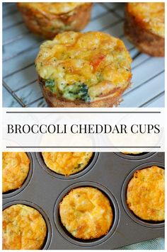 Broccoli Cheddar Cups- easy make-ahead breakfast that is freezable and packed with protein!