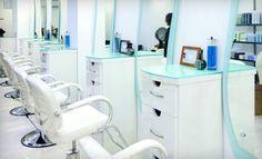 clean salon design