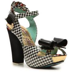 Irregular Choice Love Bug Platform Sandal ($45) ❤ liked on Polyvore featuring shoes, sandals, dress sandals, platform sandals, print shoes, bow shoes, irregular choice shoes and bow platform sandals