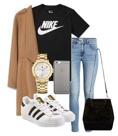 """""""Untitled #153"""" by kingrabia on Polyvore featuring H&M, NIKE, MANGO, adidas Originals, Tommy Hilfiger and Native Union"""