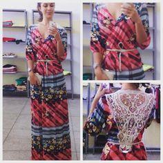 vestido longo com aplique, ótima opção para usar com botinhas! @adorokadini #adorokadini #euquero #modafeminina #kadini