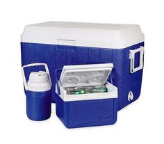 Coleman 5295A780G Blue Cooler Combo - 54 qt, 5 qt, and 1/3 gal >>> Special  product just for you. See it now! : Camping stuff