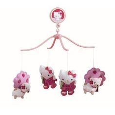 """Hello Kitty """"Out with Pup"""" Musical Mobile...for Cassandra's baby boy or girl... cause its cute for both!"""