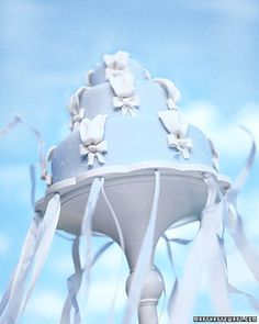 Cake Stand With Ribbons