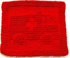 Knitting Cloth Pattern  AMBULANCE  PDF by ezcareknits on Etsy, $2.85