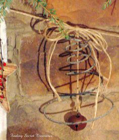 bedspring, bell, and some twine - a thing of beauty