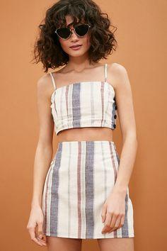 Product Name:Striped Mini Skirt, Category:bottom_skirt, Diy Fashion, Ideias Fashion, Fashion Outfits, Fashion Design, Fashion Goth, Modest Fashion, Hijab Fashion, Korean Fashion, Fashion Tips