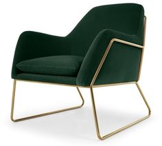 £599 Frame Pin Green velvet #Armchair with Gold Frame | #Occasional Chair | #Ad