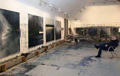 ornulf opdahl Artist Workspace, Painters Studio, Art Tutor, Painter Artist, Dream Studio, Creative Workshop, Famous Artists, Art Studios, Artist At Work