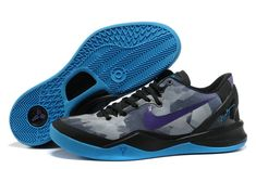 the latest d6b11 c37c5 Kobe 2013 Kobe VIII Elite Wolf Grey Black Blue Purple Adidas, Blue Style,  Nike