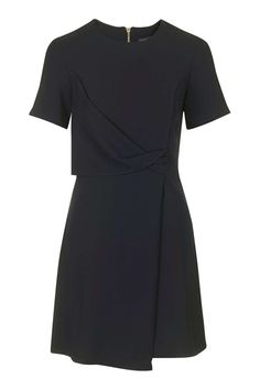 Drape Navy Shift Dress from Topshop