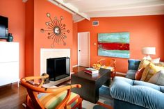 The Advantages And Disadvantages Of Orange Living Room
