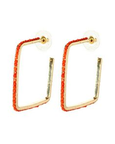 For the rehearsal. $20 on Rue La La. (Amrita Singh Plated Resin Square Hoops)