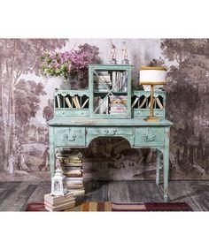 #Escritorio #Modernista #dormitorios #tocador #juvenil #mueblesrestaurados #antique #vintage #shabbychic #shabby #greendecor #mueblespintados #mueblesantiguos #interiores Shabby Chic, Chalk Paint, Great Rooms, Entryway Tables, Vanity, Painting, Furniture, Ideas, Home Decor