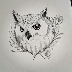 40+ Simple Owl Stencil Tattoo Design
