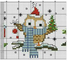 Owl Christmas cross stitch.