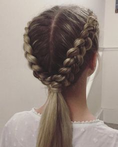 Party hairstyles for long blonde hair straight with side bangs . - Party hairstyles for long blonde hair straight with side bangs … - Dutch Plait, Two Dutch Braids, Micro Braids, Under Braids, Party Hairstyles, Hairstyle Ideas, Cute Hairstyles With Braids, Knot Hairstyles, Simple Braided Hairstyles