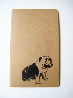 English Bulldog notebook :)
