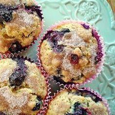 Oat Blueberry Muffins @ allrecipes.co.uk