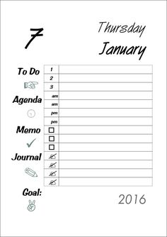 A5 Planner 2016 Filofax Printable Daily Kikki K Large by digizines