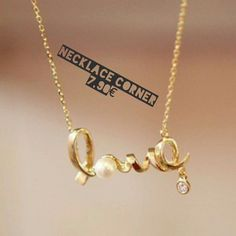 Collier Love via Necklace's Store. Click on the image to see more!