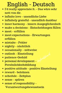 Life is precious and uses it by learning the German language with positive quotes. Study German, German English, Learn English, Learn French, German Grammar, German Words, English Words, German Language Learning, Learn A New Language