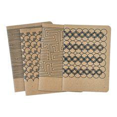 4 Pocket Notebooks, Geometric No.2