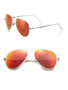 c4eff5d14 Ray-Ban - Light Ray 56mm Wayfarer Sunglasses Light Rays, Wayfarer  Sunglasses, Mirrored