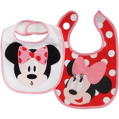 for girls Disney Infant Girls Minnie Mouse Bib Set ($8.99) ❤ liked on Polyvore featuring baby, baby girl, kids, baby stuff and bibs