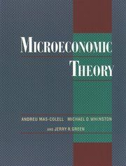 Cover for Microeconomic Theory Andreu Mas-Colell, Michael D. Whinston, and Jerry R. Green