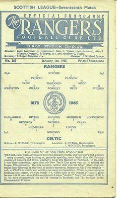 Rangers 1 Celtic 0 in January 1965 at Ibrox. Retro Football, Football Design, Vintage Football, Celtic Club, Celtic Fc, Rangers Football, Rangers Fc, Sir Alex Ferguson, Association Football